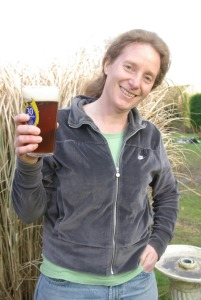 Dr Sarah de Vos of Stumptail brewery with the revived beer brewed from Chevallier pale malt, 'generous' amounts of crystal malt and Goldings hops